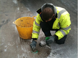 reinstatement of SVS hole using cement grout